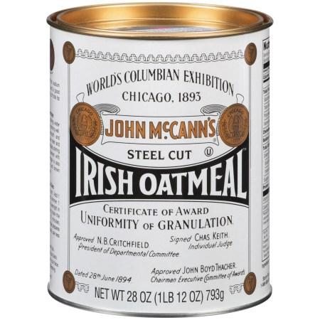 Mccann's Non-GMO Steel Cut Irish Oatmeal, 28 Oz, Canister