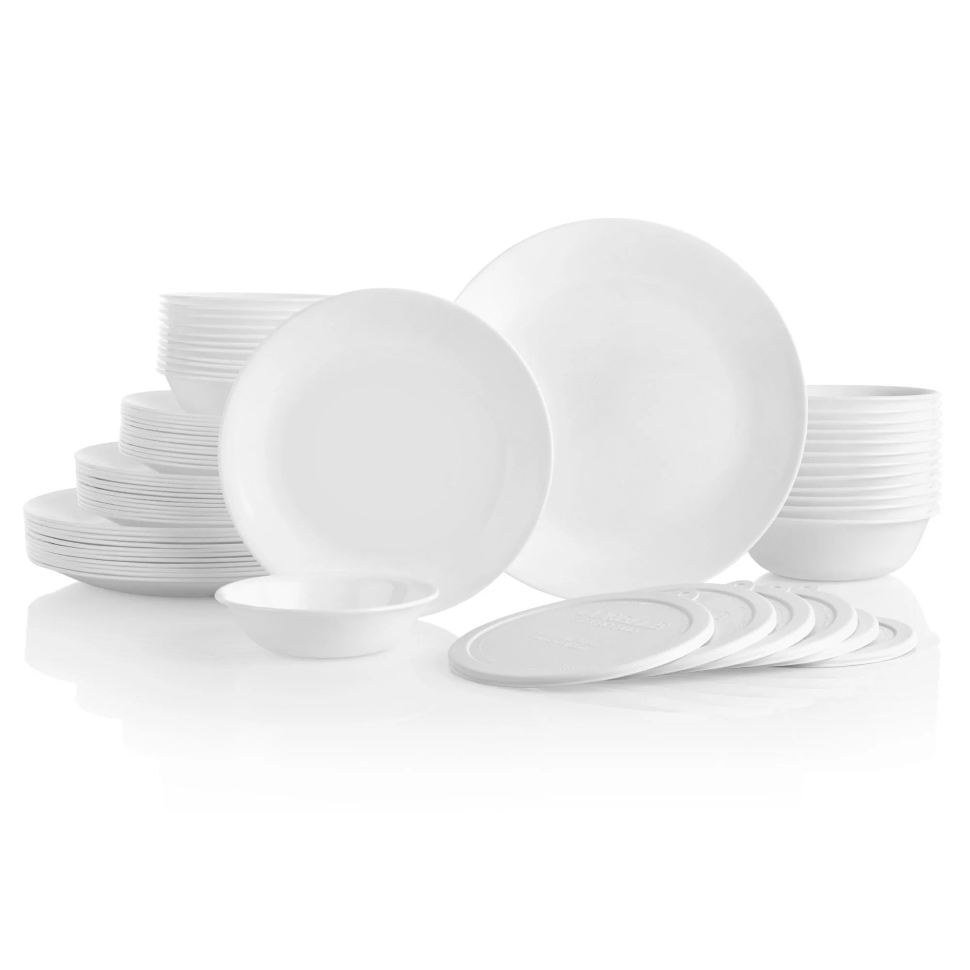 Corelle Classic 66-Piece Winter Frost White Dinnerware Set