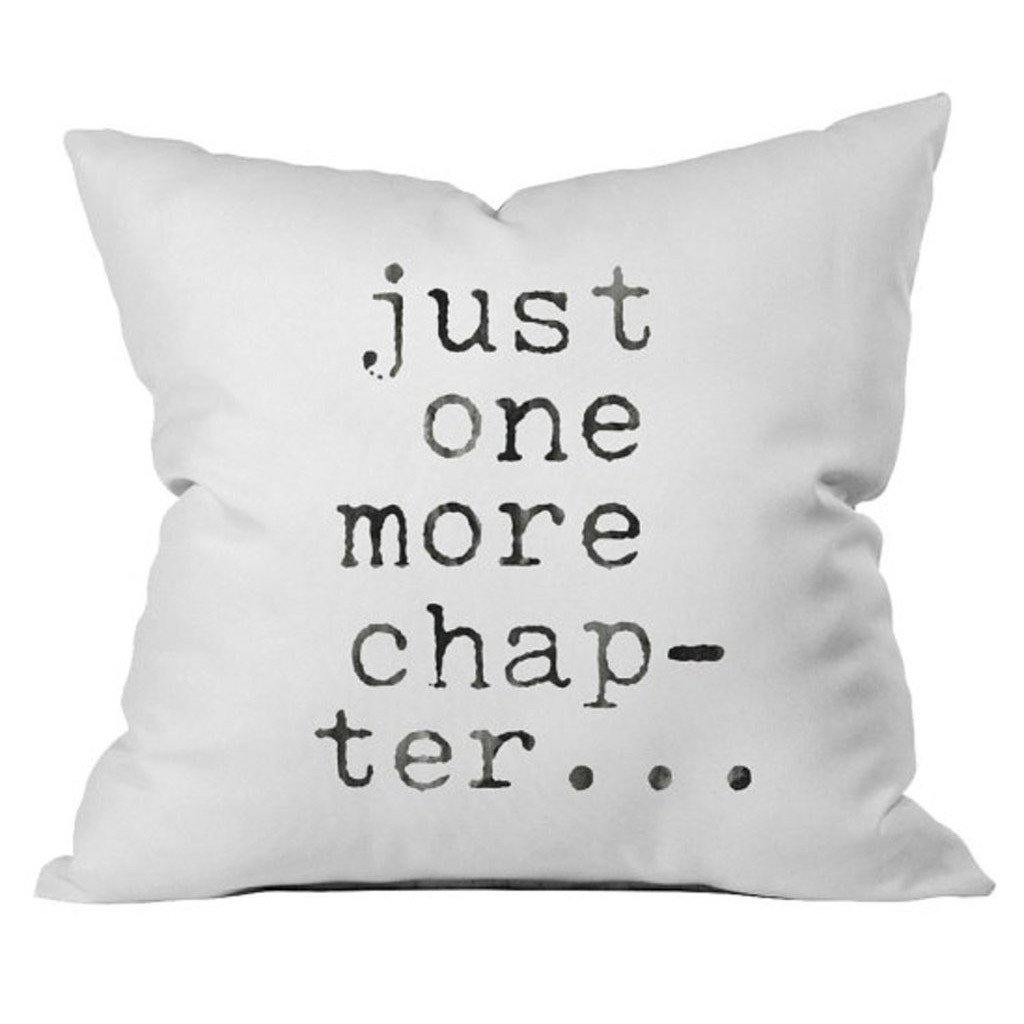 just one more chapter book lovers 18x18 inch throw pillow cover