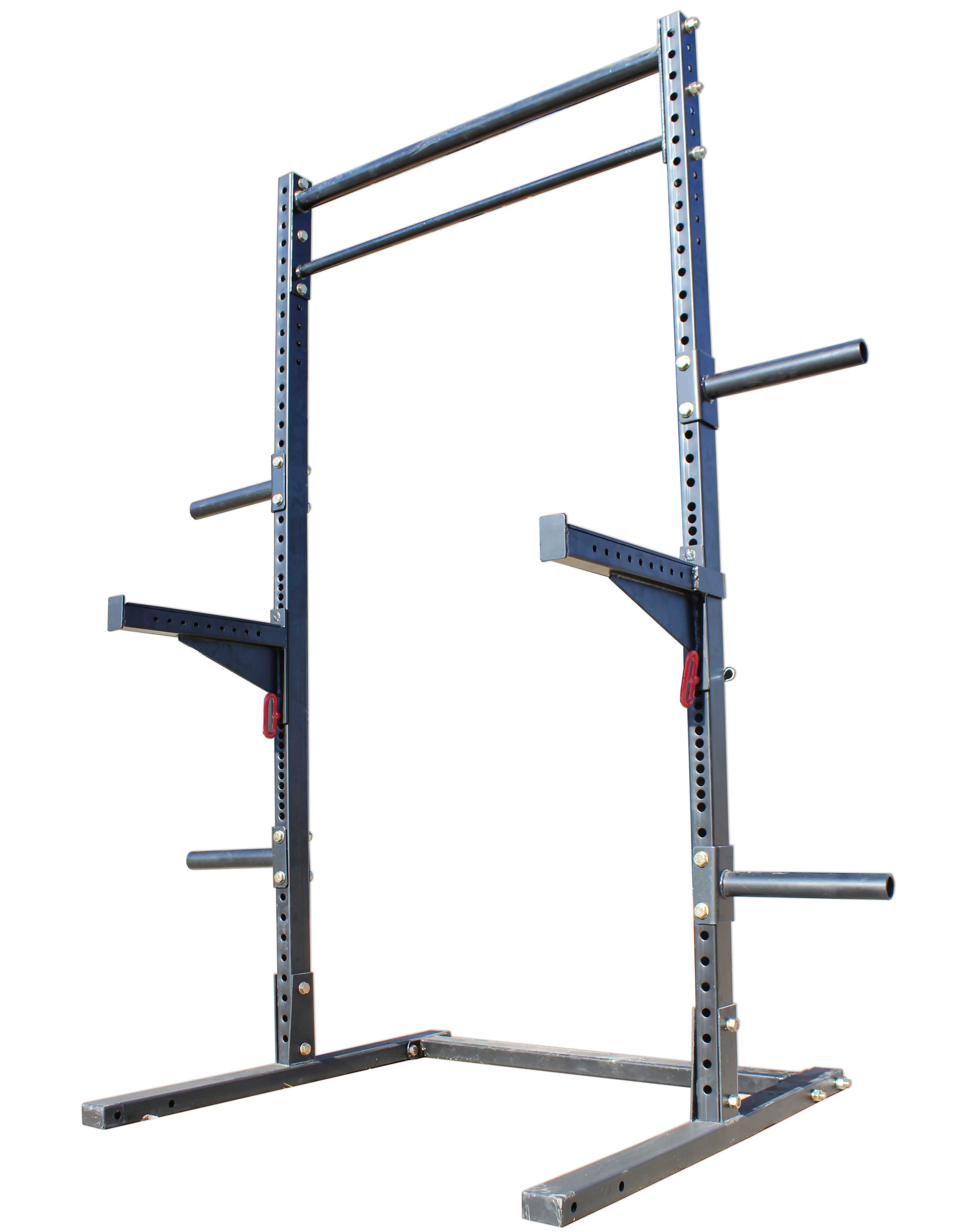 titan t 3 squat rack w safely spotter arms weight lift stand strength pull up