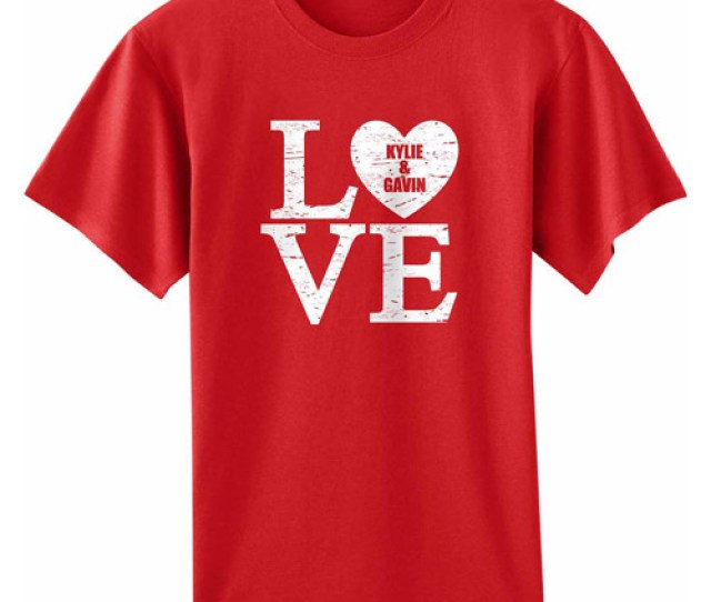 Personalized Adult Love Valentine T Shirt