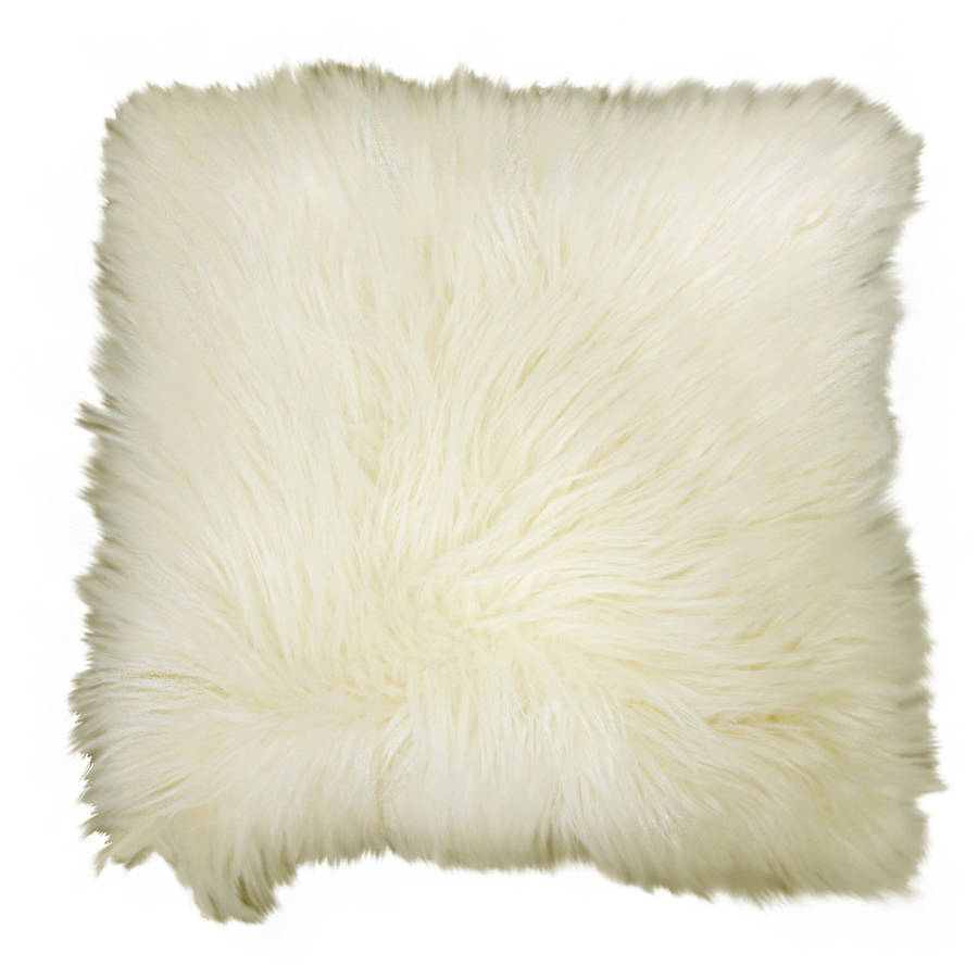 better homes gardens arctic faux fur decorative throw pillow 16 x16 ivory 1 pc square