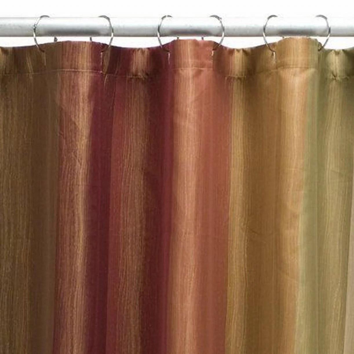 threshold earth tone multistripe fabric shower curtain rust brown gold walmart com