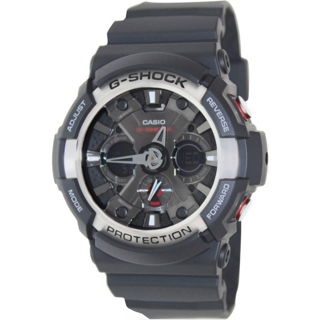 Casio Men's G-Shock GA200-1A Black Resin Analog Quartz Fashion Watch