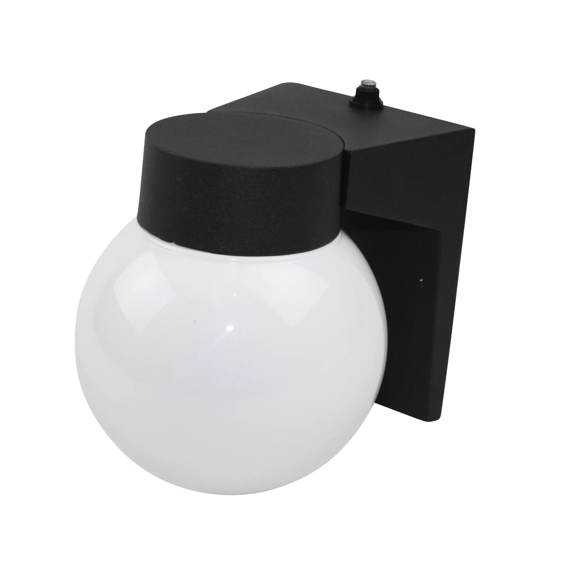 maxlite buffalo globe lantern outdoor lamp 8223 dusk to dawn photocell energy saving light black