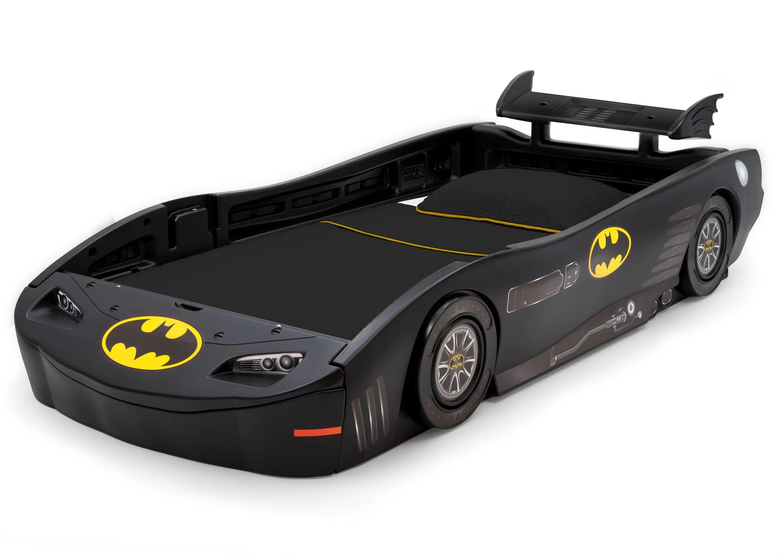 delta children dc comics batman batmobile car plastic twin bed black walmart com