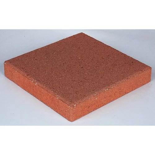 pavestone 12 square red concrete stepping stone