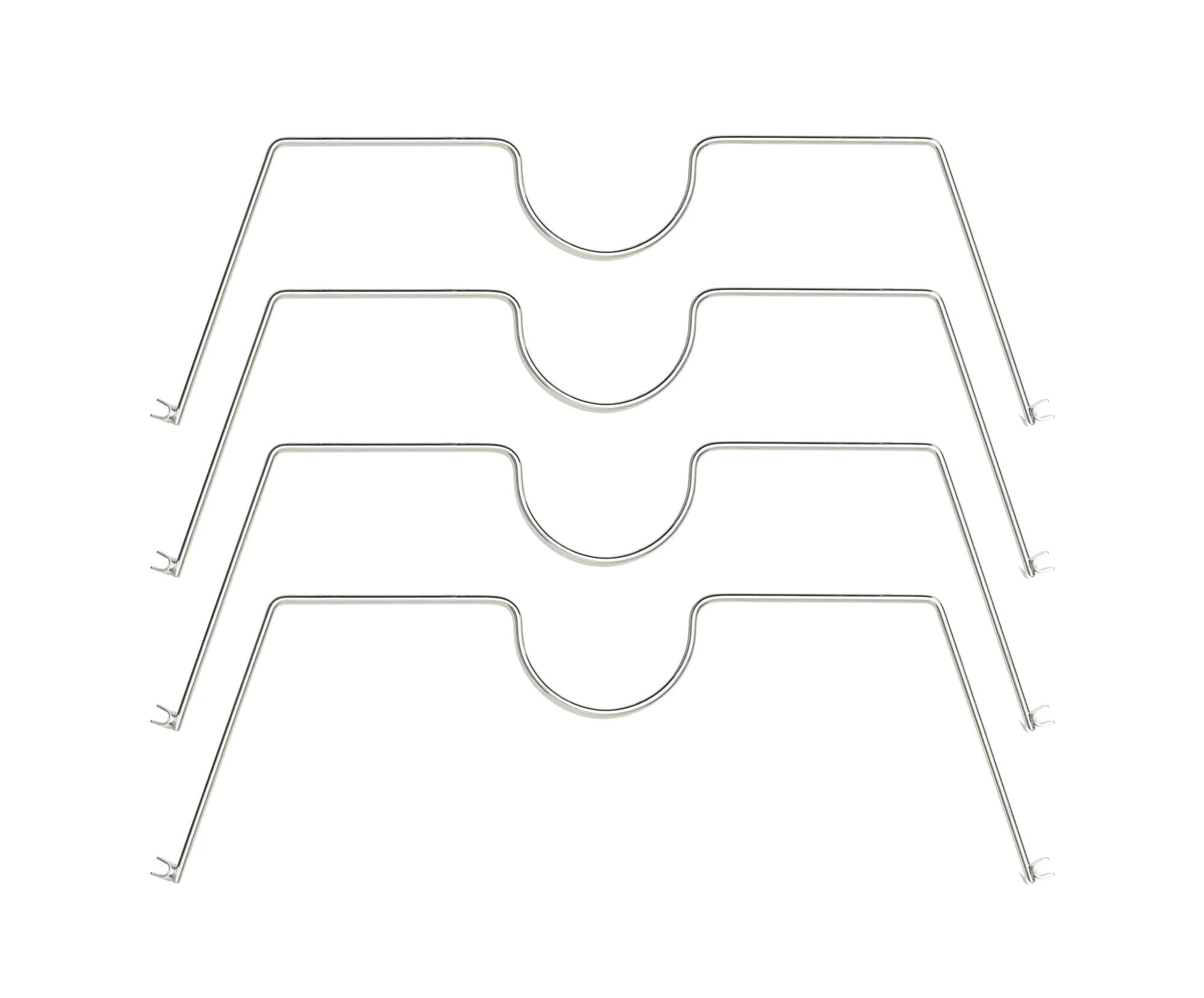 Hss Shelf Divider Fits On 18 Deep Wire Shelf Chrome
