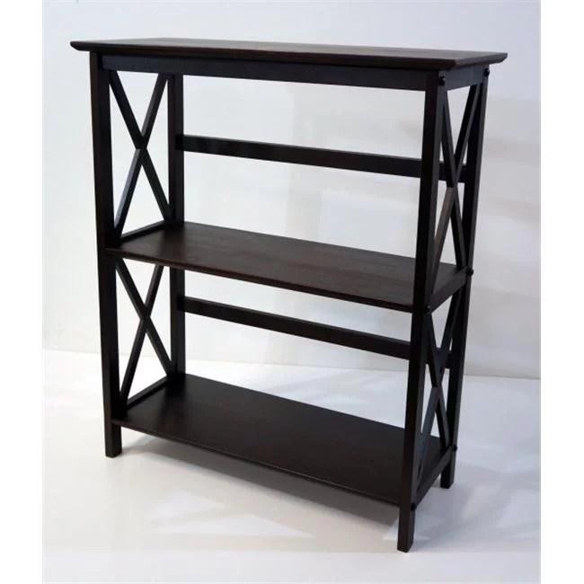 montego 3 shelf bookcase espresso