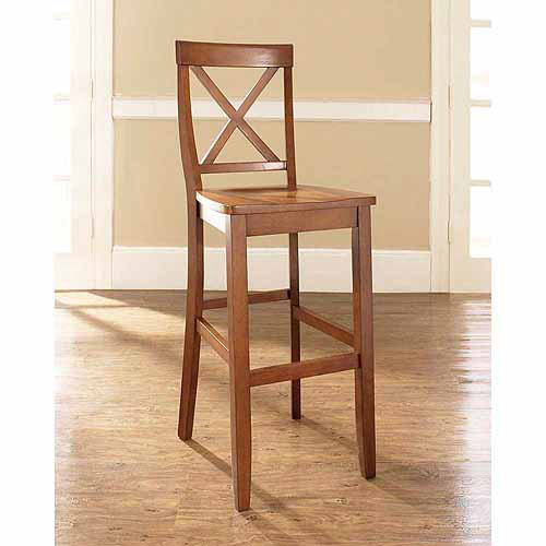 """Crosley Furniture X-Back Bar Stool with 30"""" Seat Height, 2pk"""