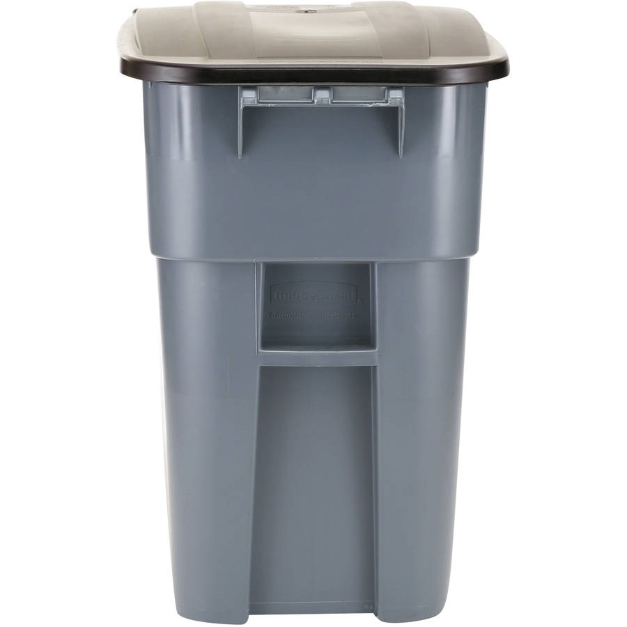 outdoor trash cans with wheels