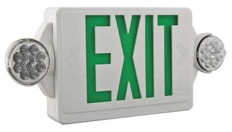lithonia lighting lhqm led g quantum series led lamps exit sign with emergency lights