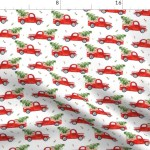 Christmas Tree Red Truck Rustic Country Dog Fabric Printed By Spoonflower Bty Walmart Com Walmart Com