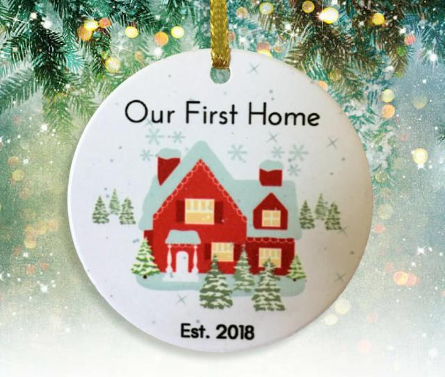 Our First Christmas New Home  Dated Xmas Ornament Newlywed