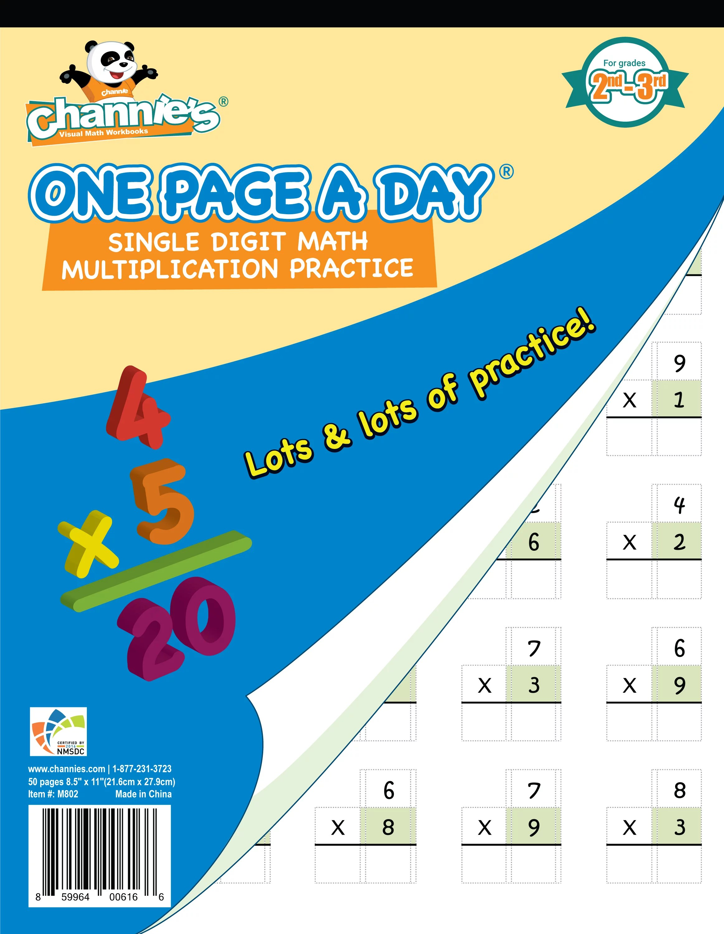 Channie S One Page A Day Single Digit Beginner