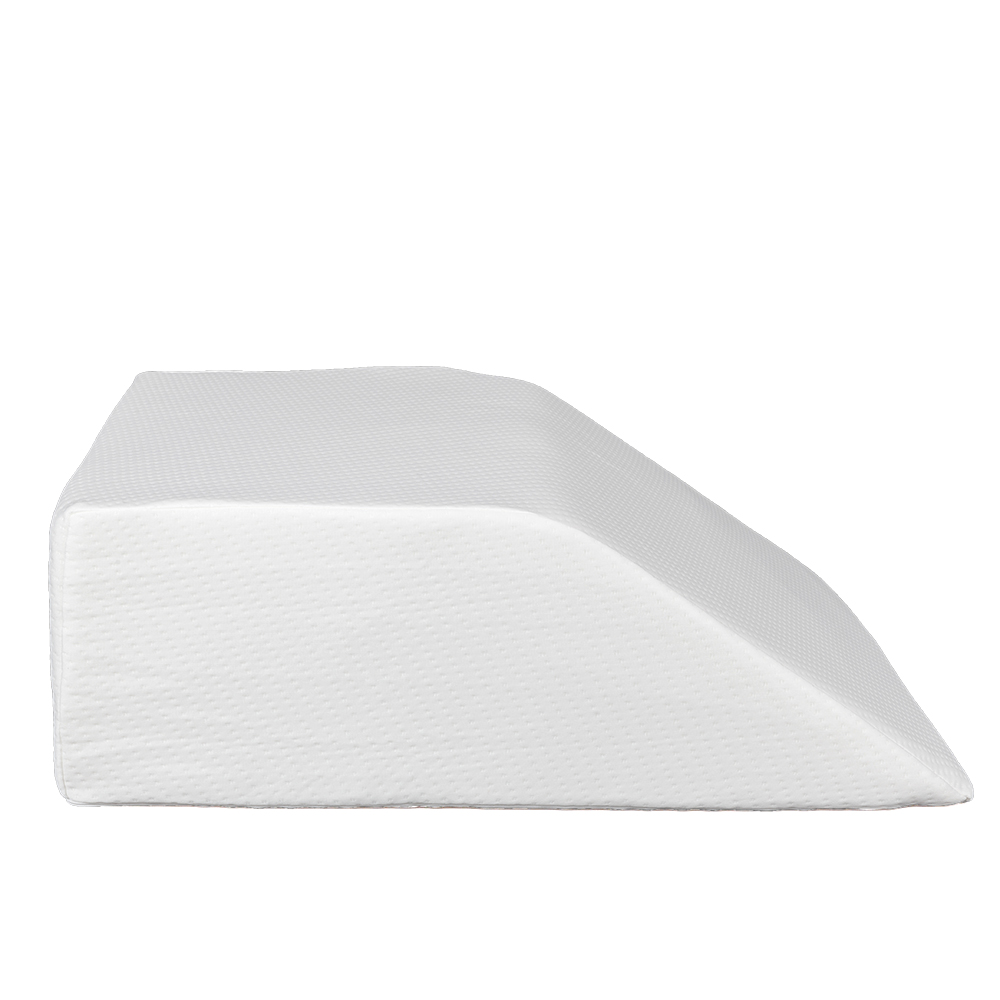 memory foam wedge pillow leg elevation pillow rest to reduce swelling back pain hip and knee pain ideal for sleeping reading relaxing