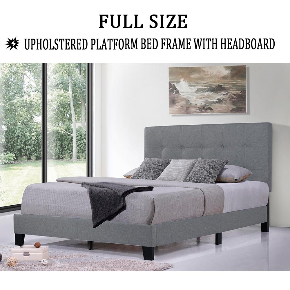 clearance modern platform bed frame with headboard bed on walmart bedroom furniture clearance id=31037