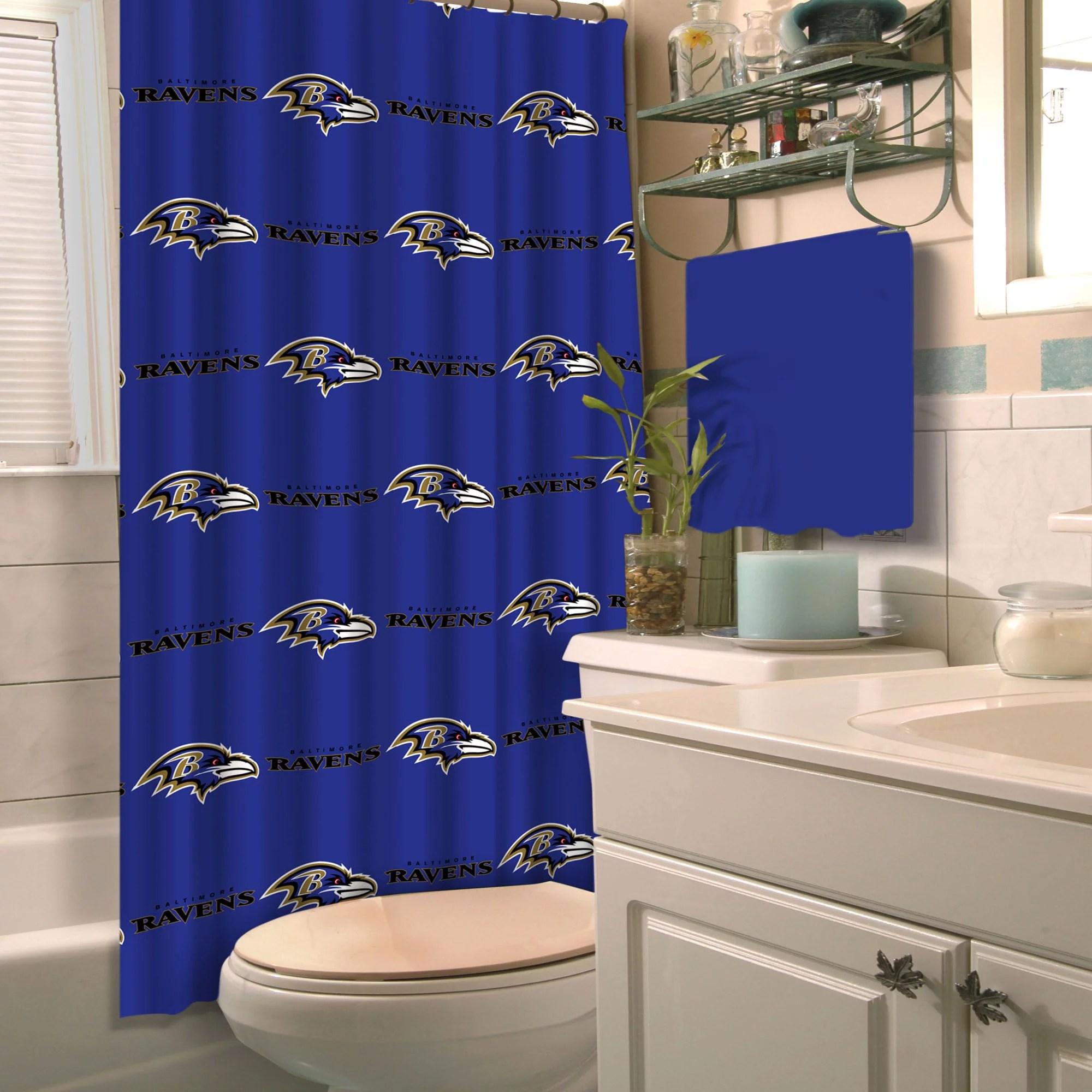 nfl baltimore ravens shower curtain 1 each walmart com