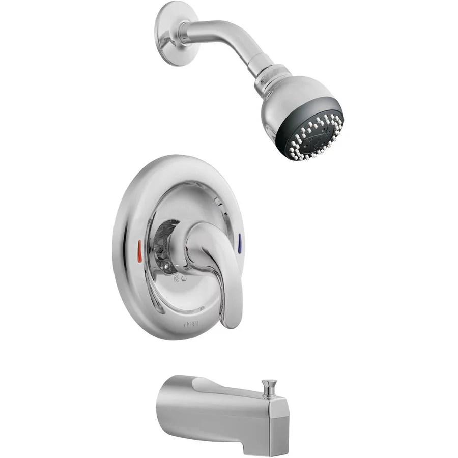 moen l82694 chrome adler single handle posi temp tub and shower faucet