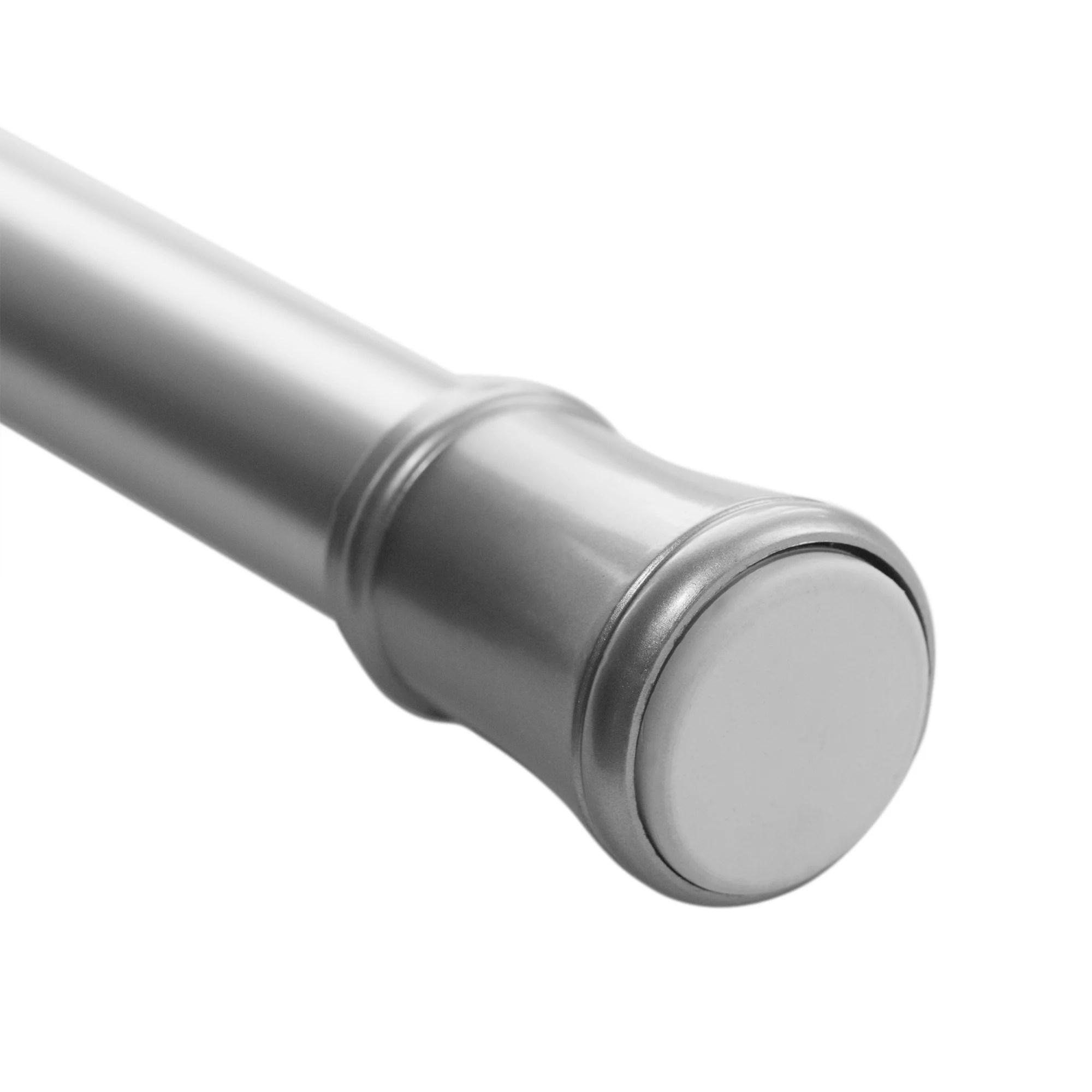 mainstays 48 84 adjustable tension curtain rod nickel