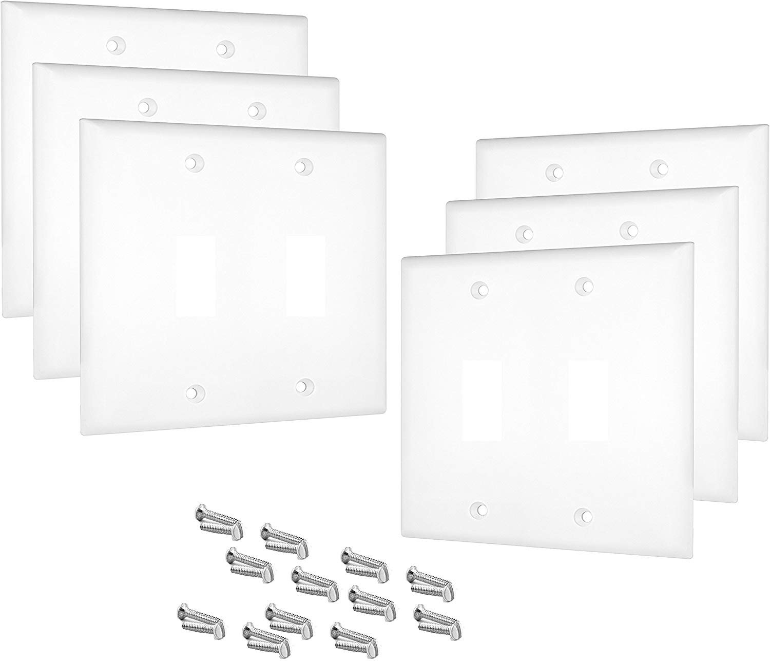 Pack Of 6 Wall Plate Outlet Switch Covers By Sleeklighting