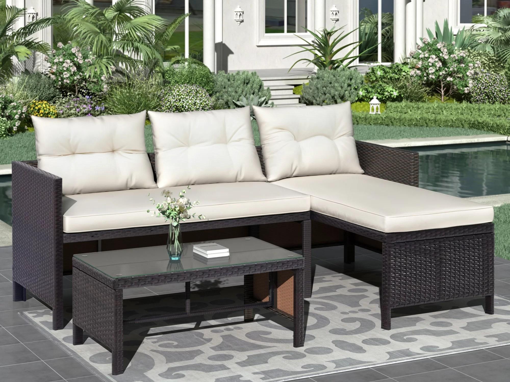 grey premium wicker patio furniture