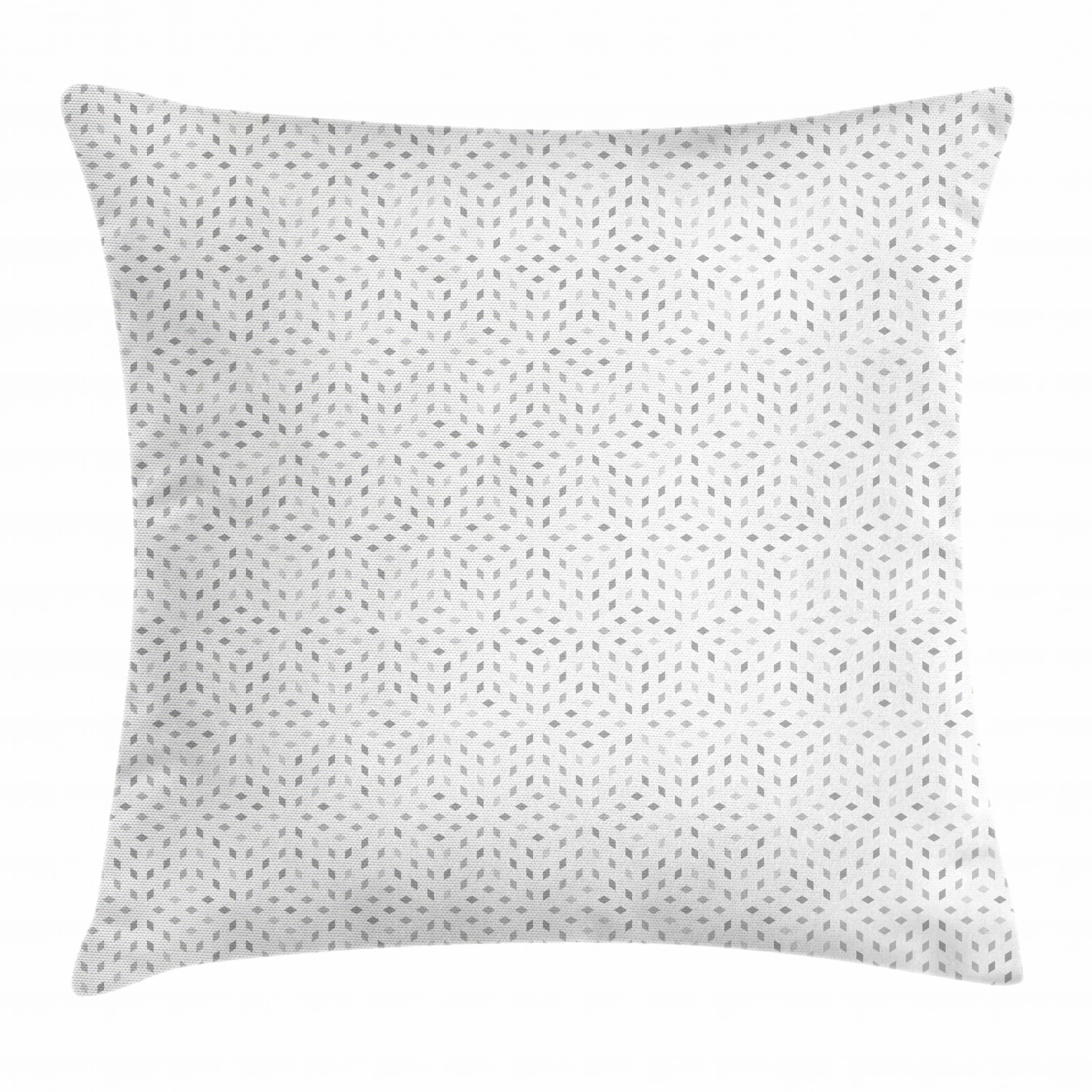 grey and white throw pillow cushion cover futuristic pattern with small grey squares and optical effect decorative square accent pillow case 16 x