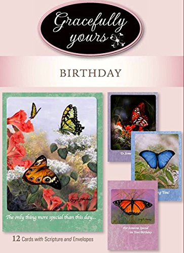 Gracefully Yours Blessed Birthday Greeting Cards featuring ...