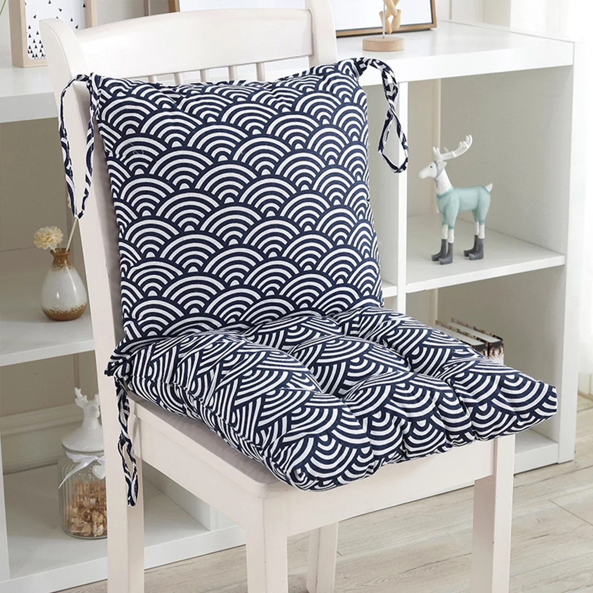 32 x 16 inch indoor outdoor chair cushion removable chair seat back cushion set for garden patio kitchen office