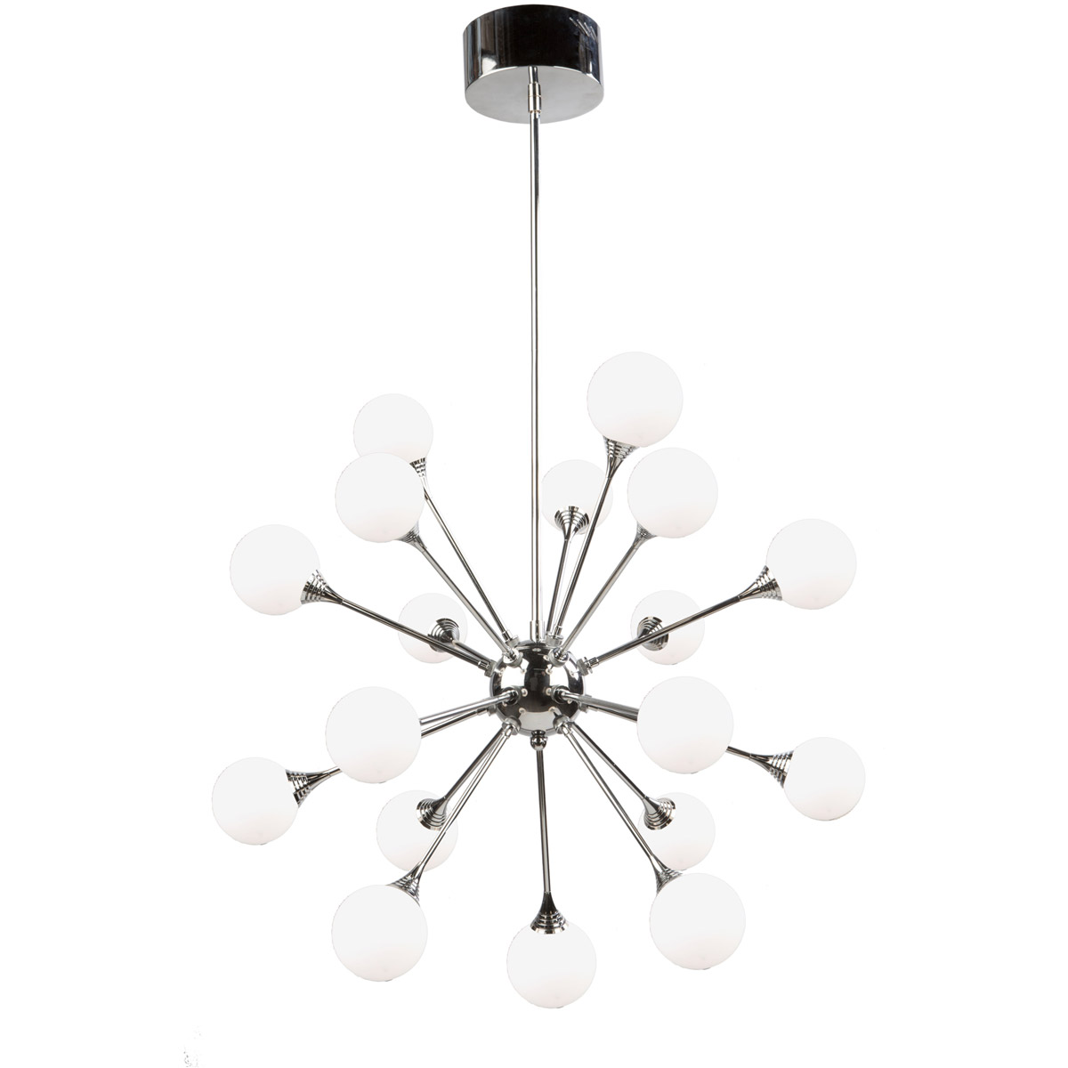 Chandeliers 18 Light Bulb Fixture With Chrome Finish Metal