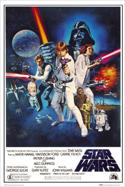 Star Wars: Episode IV – A New Hope – Movie Poster / Print (Regular Style C) (Size: 24″ x 36″)