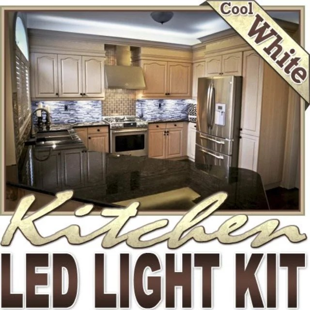 biltek 6 ft cool white kitchen counter cabinet led lighting strip dimmer remote wall plug 110v under counters microwave glass cabinets floor