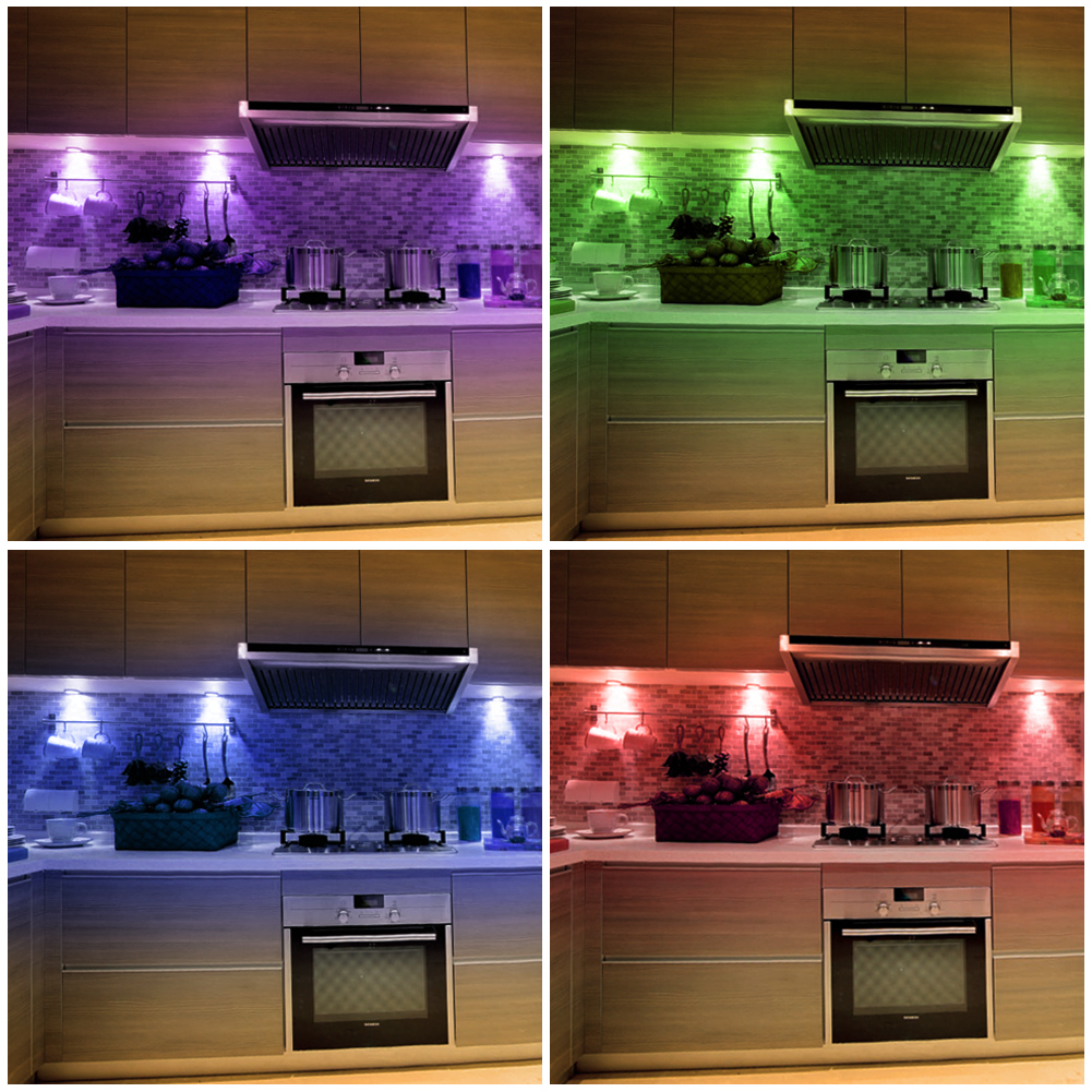 rgb puck light color changing under