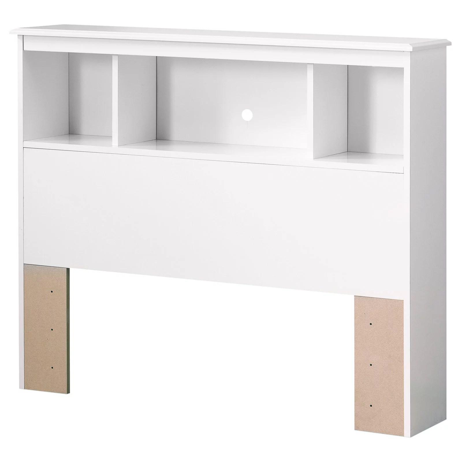 south shore crystal 3 shelf bookcase headboard twin white