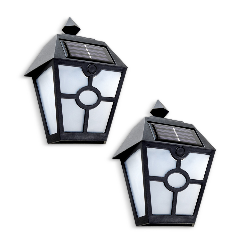 Black Wall Mount Decorative Solar Porch Light Coach-style ... on Wall Mounted Decorative Lights id=73496