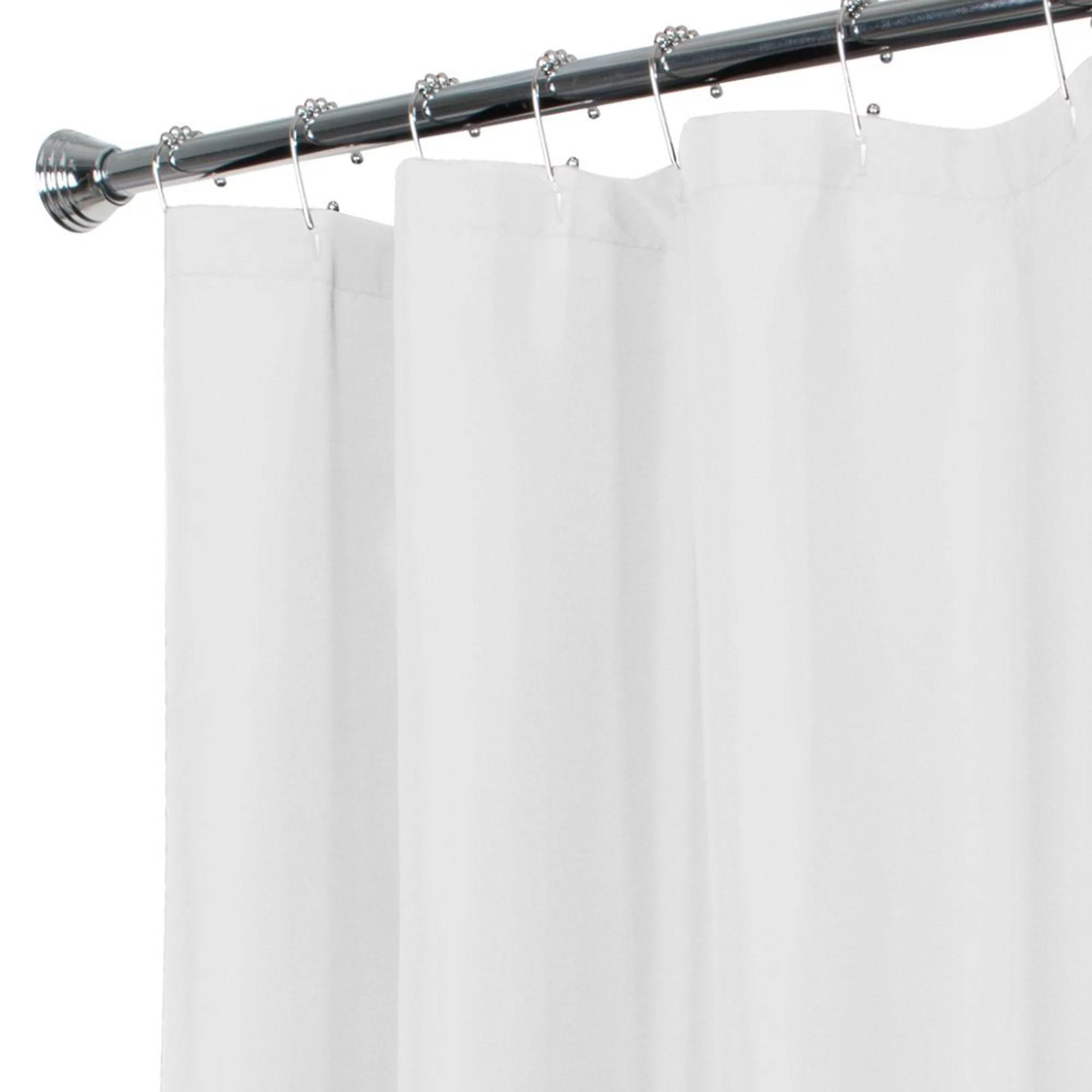zenna home water repellent fabric shower curtain or liner walmart com