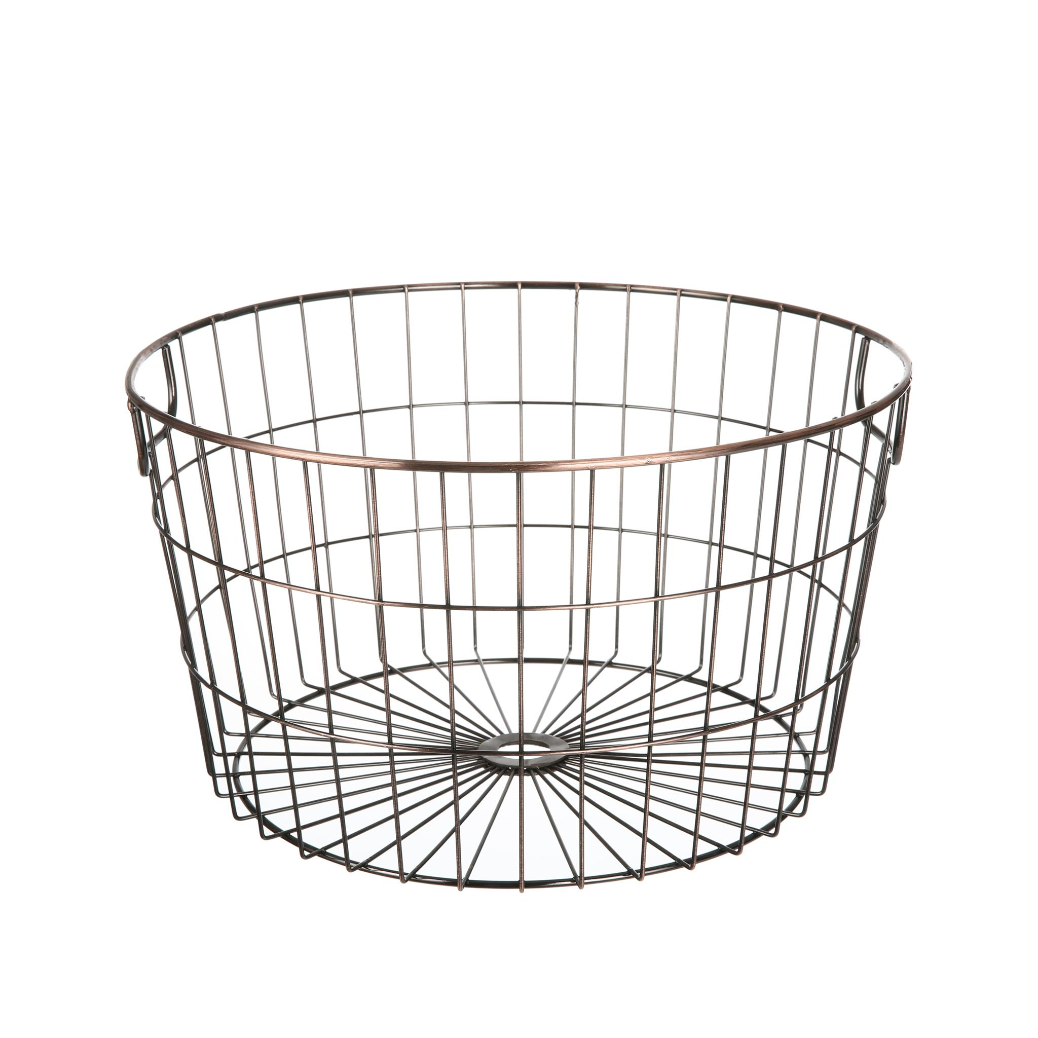 Mainstays Round Wire Basket Brass Walmart Inventory