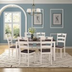 Clearance 7 Piece Dining Table Set Modern Kitchen Table Sets With Dining Chairs For 6 White Heavy Duty Wooden Rectangular Dining Room Table Set For Home Kitchen Living Room Restaurant L940 Walmart Com