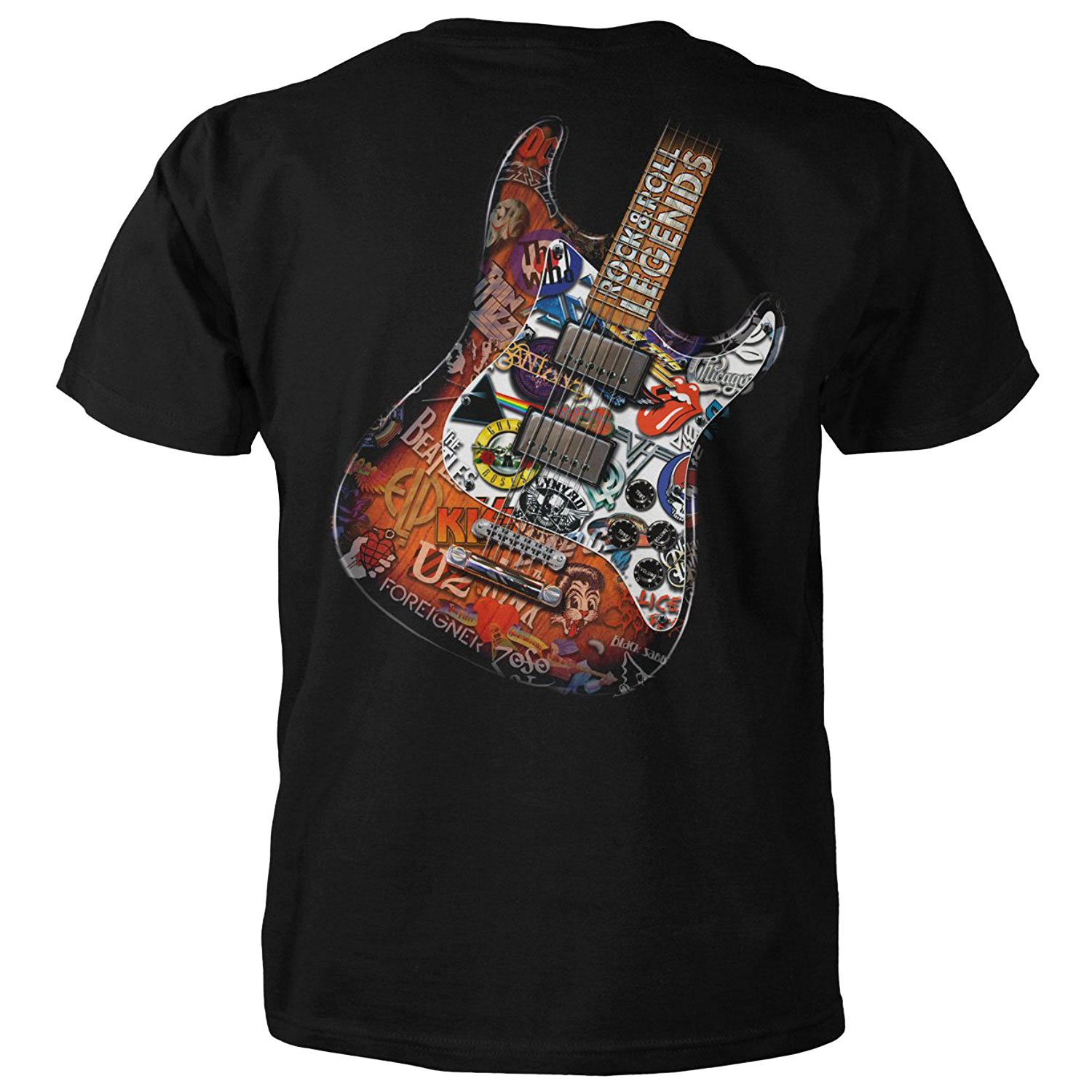 Rock n Roll Legends Guitar Short Sleeve T-shirt