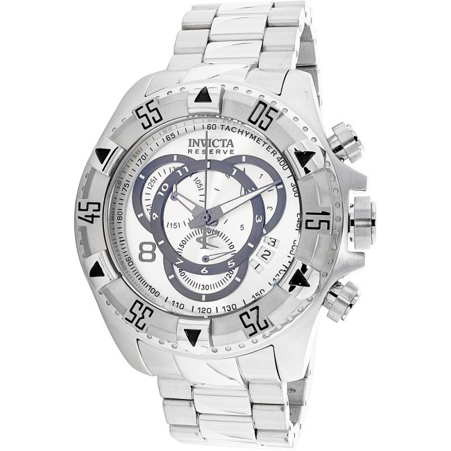 Invicta Men's Excursion 5525 Silver Stainless-Steel Plated Swiss Chronograph Fashion Watch
