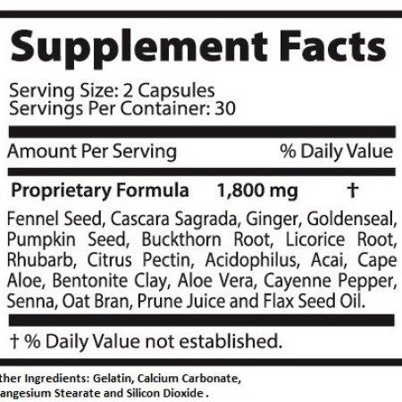 سوبر كولون 1800 لتخفيف الوزن ديتوكس كلينز كلر طبيعي مع فاكهة أكي والشمر 60 كبسولة لكل زجاجة (10 زجاجات) c1ca8e5e a2ff 4b90 83fb ceecab231951 1