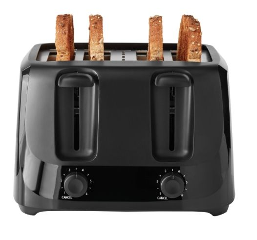 Mainstays 4-Slice Toaster with 6 Shade Settings and Removable Crumb Tray