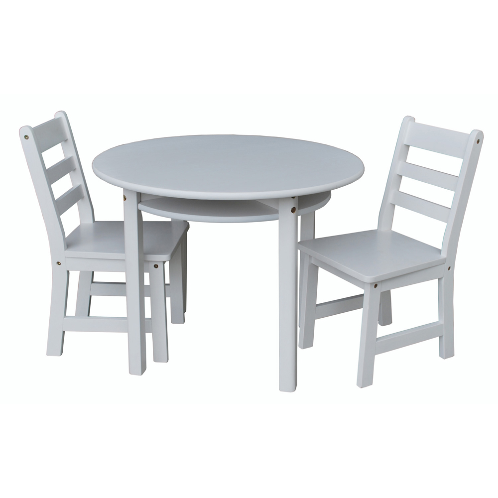 yu shan children s table and chair set in white Kids Round Table And Chairs id=50740
