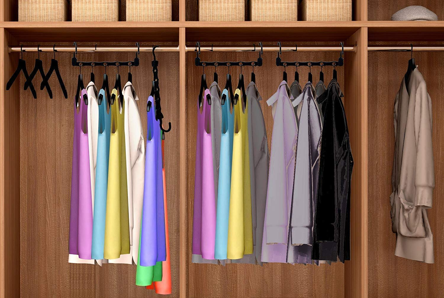 2 Pack Magic Hangers As Seen on Tv Save Closet Space ... on Closet Space Savers Walmart  id=28613