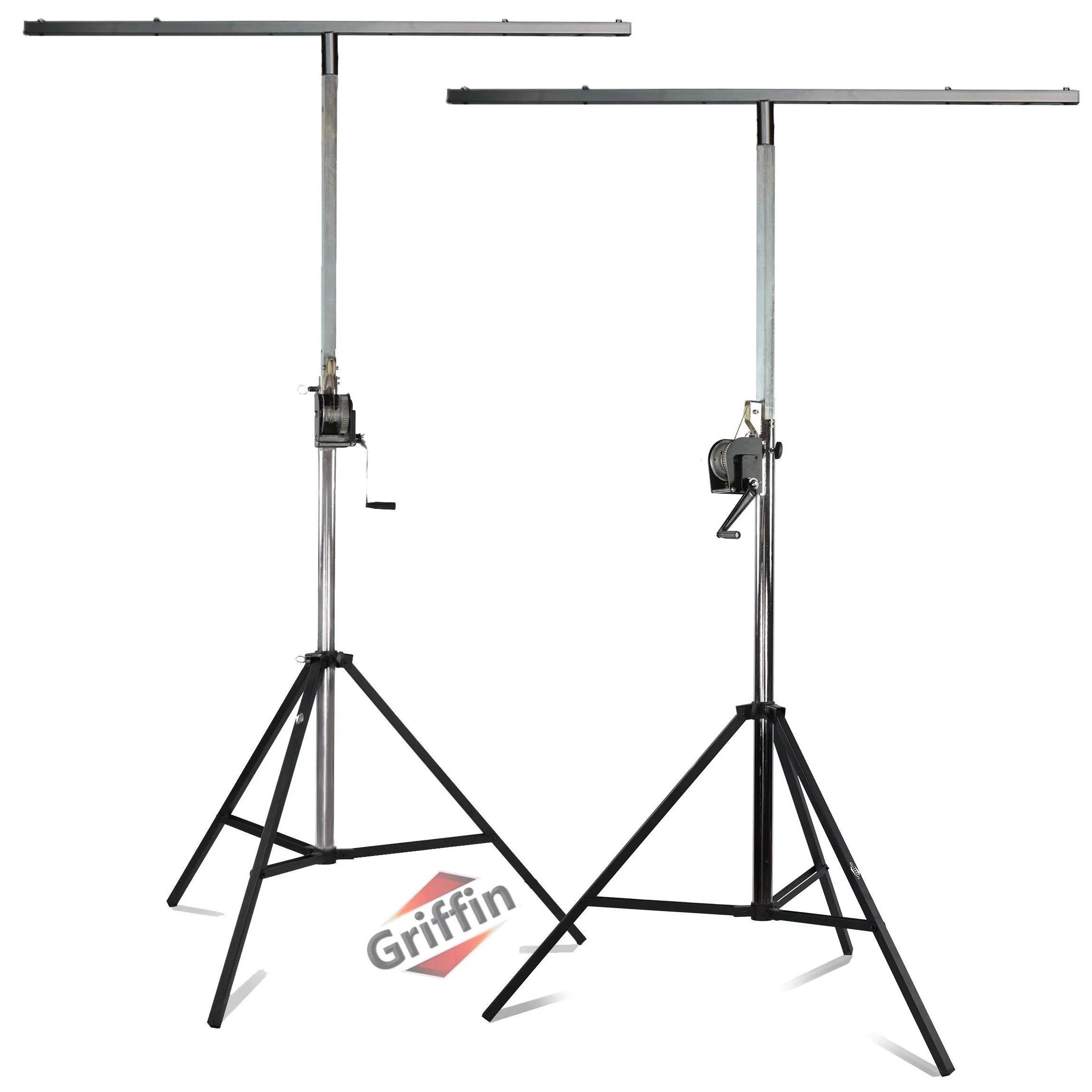 crank up light stands 2 pack stage lighting truss system by griffin portable speaker tripod platform rig adjustable trussing dj booth kit t bar
