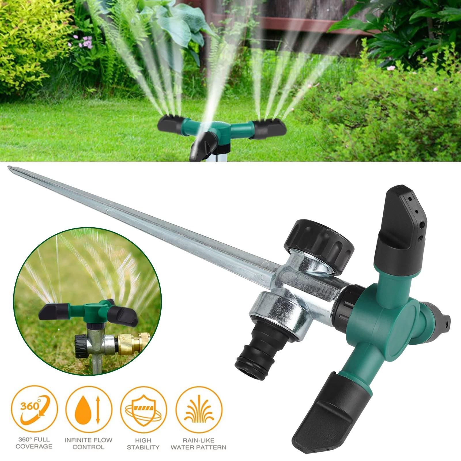 Lawn Sprinkler Automatic 360 Rotating Adjustable Kids