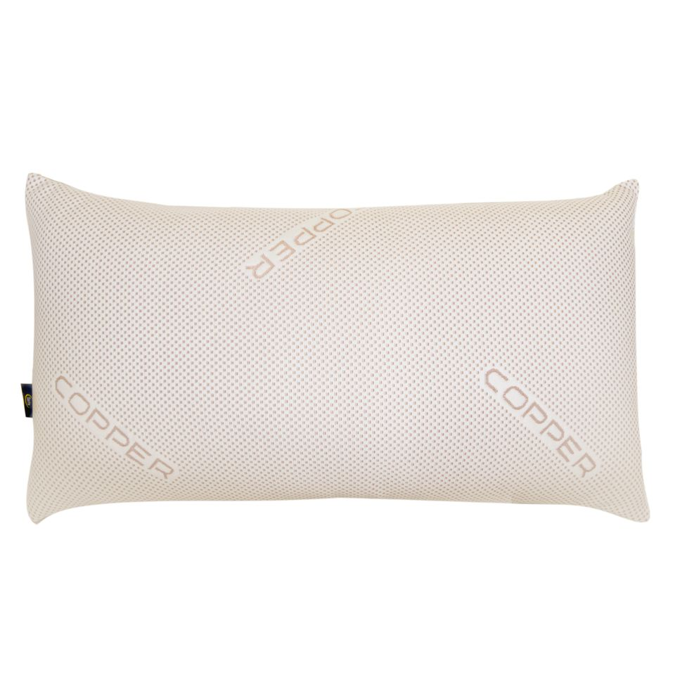 sertapedic copperloft pillow with copper infused cover polyester fill king size pillow
