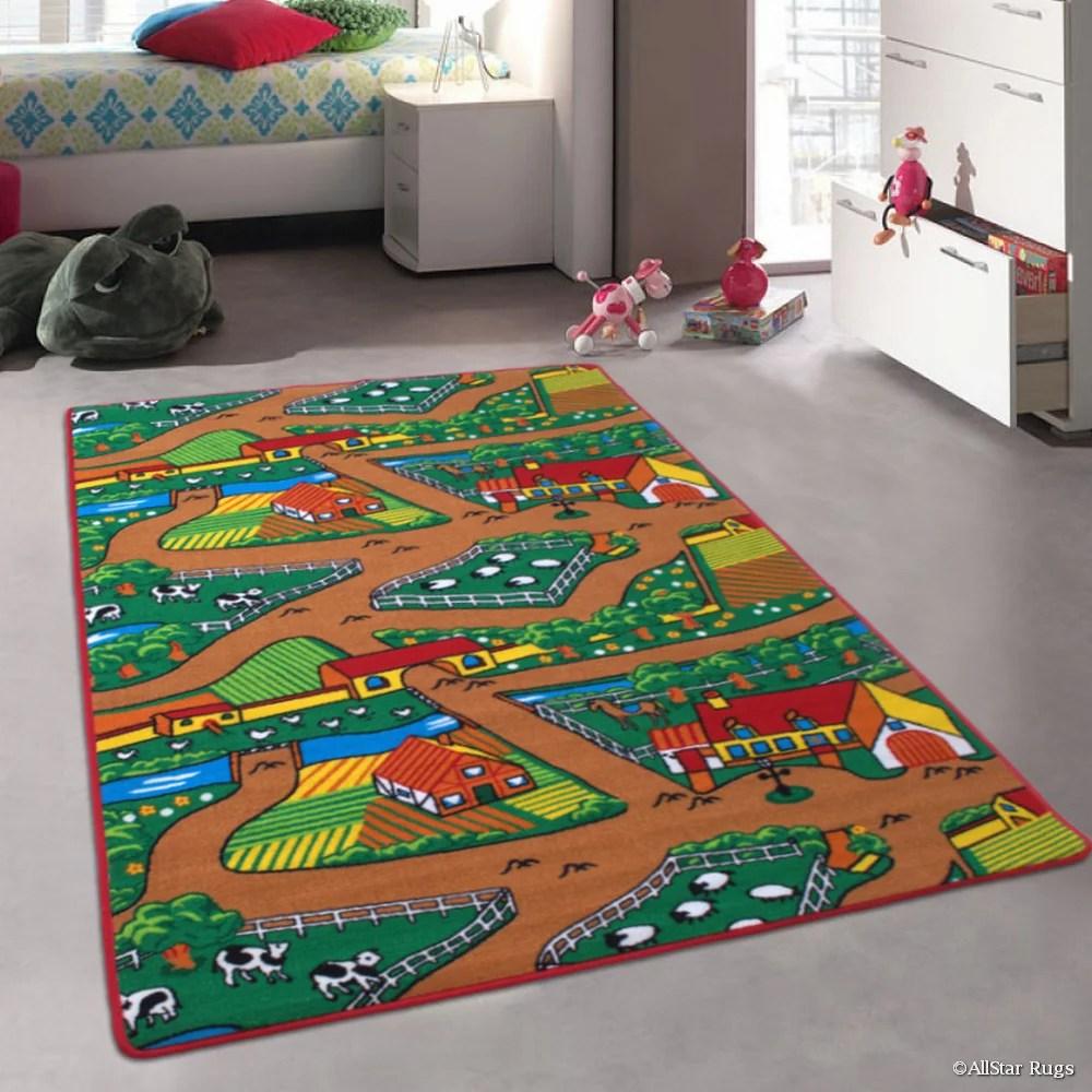 allstar kids baby room area rug farm farmer landscape on farmhouse colors for bath mats walmart id=58485