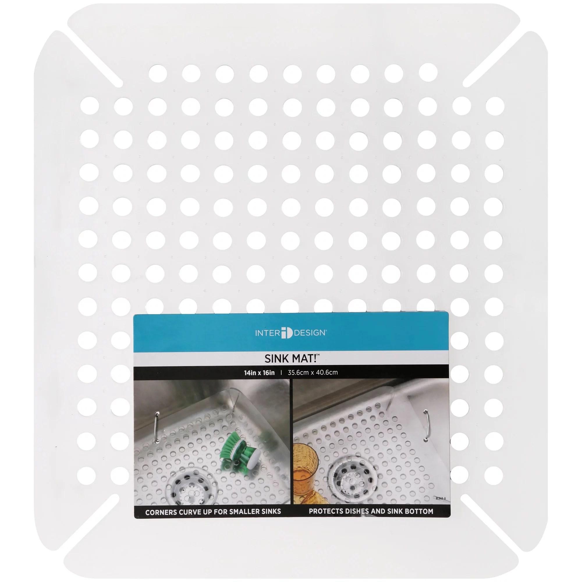 interdesign 14 x 16 adjustable sink mat clear