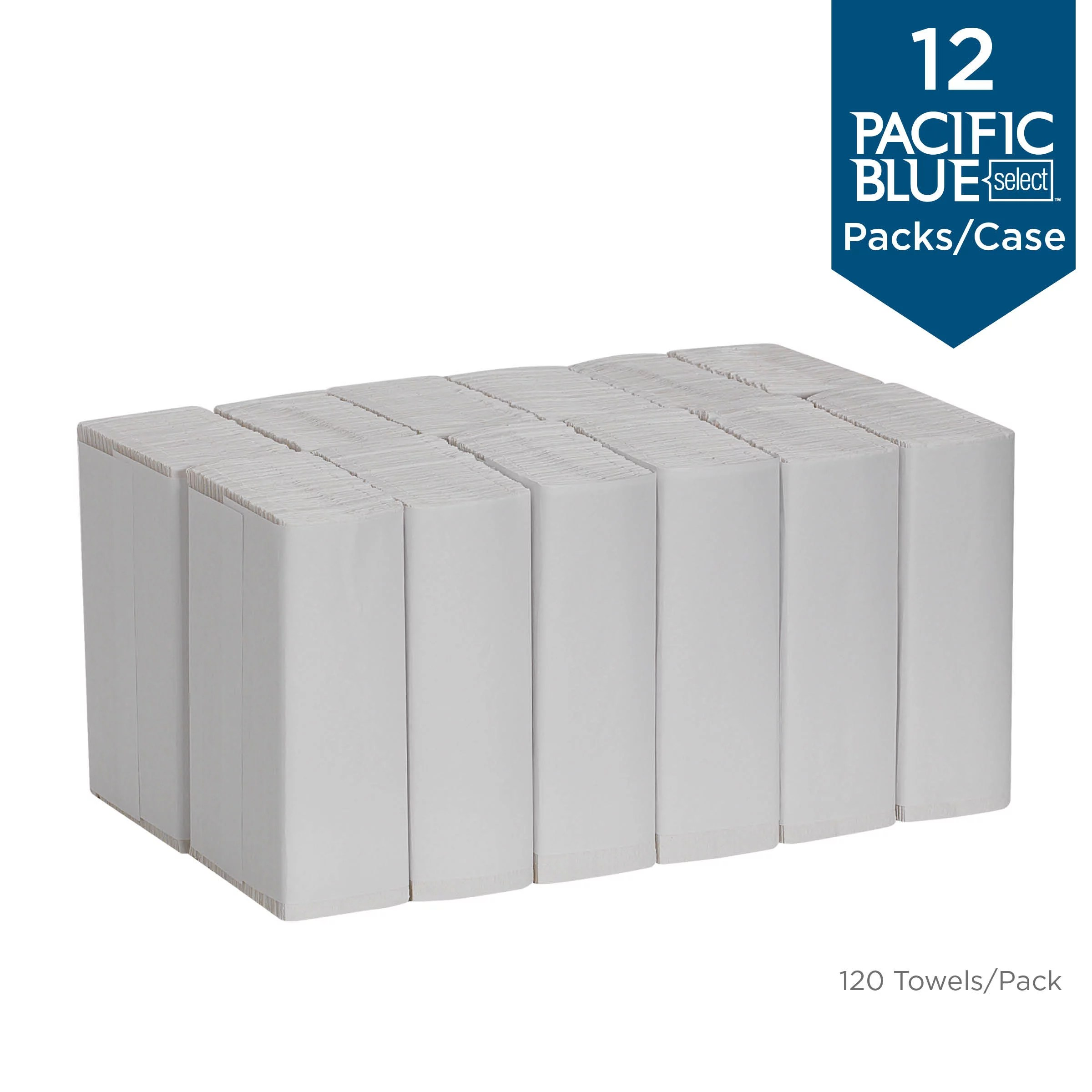 Georgia-Pacific Pacific Blue Select™ 2-Ply C-Fold Paper Towels, Centerfold Towels, 23000, 120 Towels per Pack, 12 Packs per Case